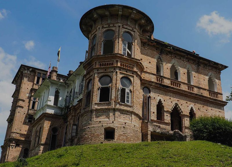 Front view of Kellie's Castle located at Batu Gajah, Perak